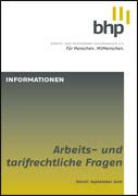 BHP Broschüre Arbeitsrecht