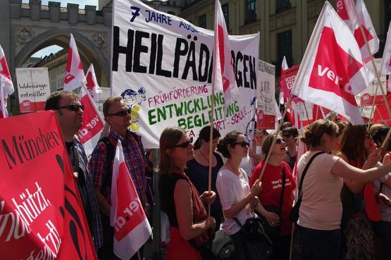 Streikauftakt in München am 11.05.2015