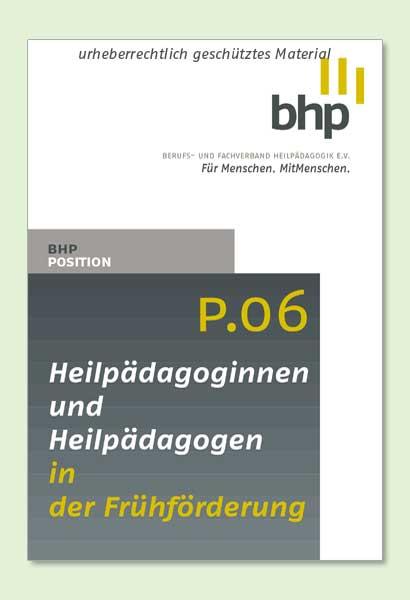 Neues Positionspapier des BHP
