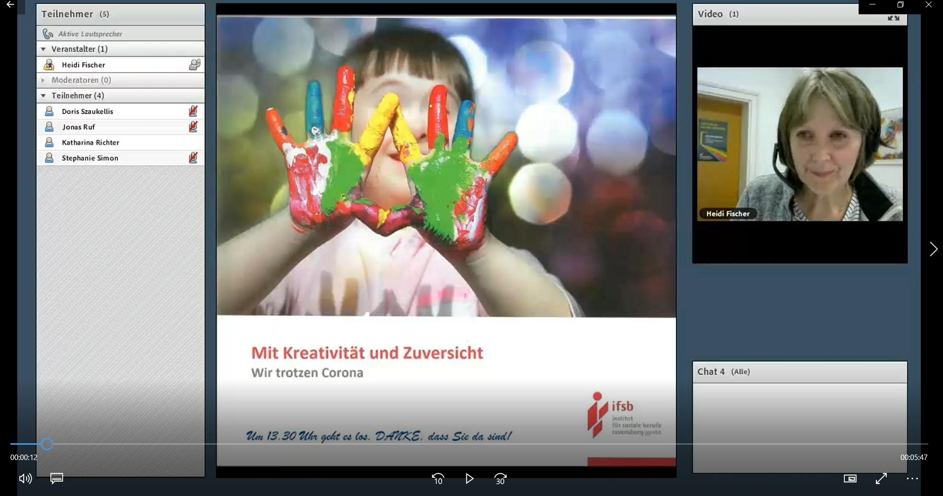 Video von Heidi Fischer: Mit Klick auf das Bild öffnet sich ein neues Fenster.