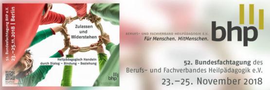 52. BHP Bundesfachtagung 2018 ausgebucht: Warteliste eingerichtet