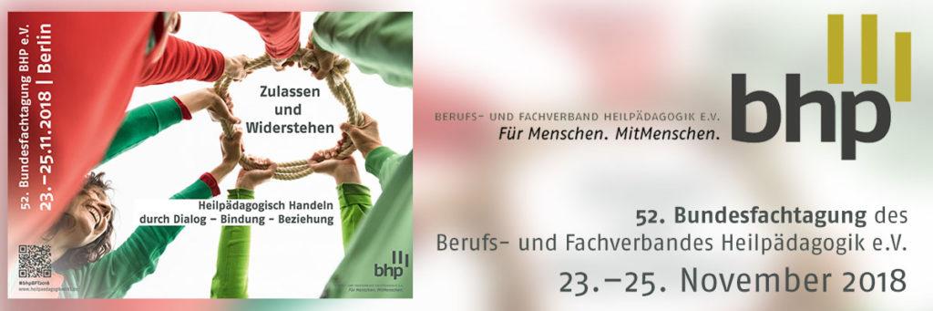 Bundesfachtagung 2018: Zulassen und Widerstehen.