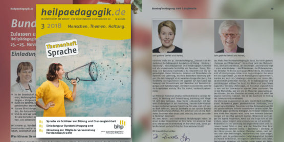"""Fachzeitschrift Themenheft """"Sprache"""" erschienen"""