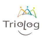 Logo der Praxis Trialog, Schriftzug in Form eines lachenden Gesichtes