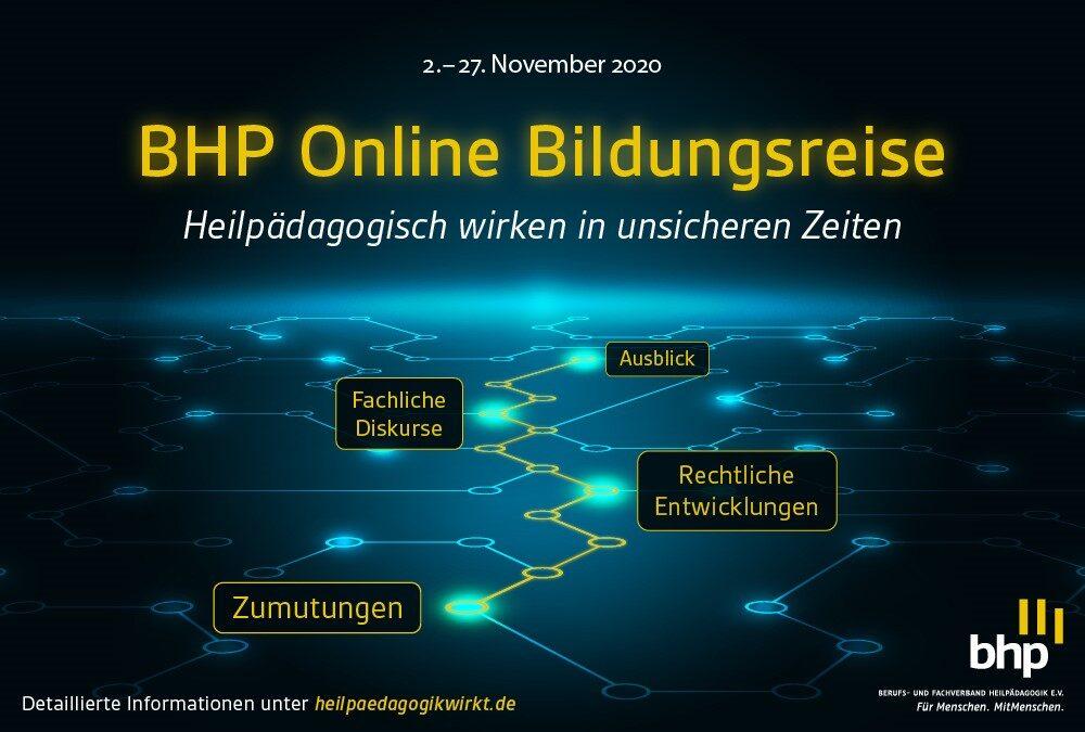 Plakat zur BHP Online Bildungsreise