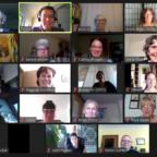 Das Bild zeigt die Teilnehmenden der Zoom Konferenz: Landesfachgruppensprecher konferieren mit BHP Vorstand und Geschäftsführung