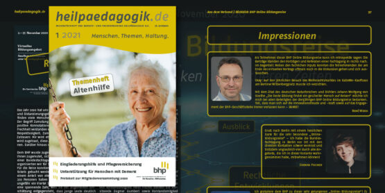 heilpaedagogik.de: Themenheft Altenhilfe erschienen