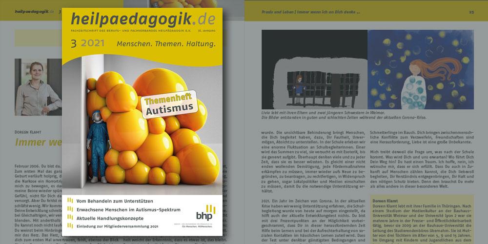 Artikelbild - Teaserbild zur Veröffentlichung der heilpaedagogik.de 03-2021